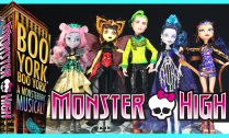 Monster High Boo York LunaMothews MouscedesKing CleoDeNile DeuceGorgon ElleEdee