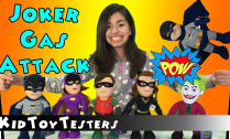 Batman-Gas-Attacked-by-the-Joker,-Robin-Batgirl-Catwoman-KidToyTesters