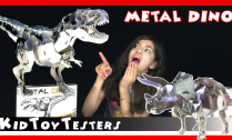 metal-dino-tyrannosaurus-triceratops-owi owi robot kidtoytesters