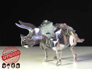 triceratops metal dino, owi, owi robot kidtoytesters