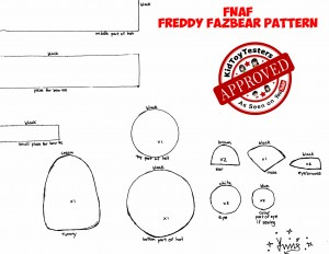 FNAF Freddy Fazbear Plushie Pattern by KidToyTesters