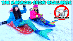 Mermaid-Show-Challenge-Extreme-Winter-Challenge-Video-kidtoytesters