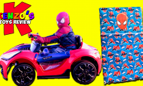 Spiderman-in-Real-Life-opens-a-Giant-Surprise-Spiderman-Car-Package---Batter-Powered-Rid-On-Super-Car