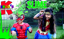Spiderman-and-Wonderwoman-get-Slimed