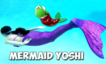 Mermaid Poochy and Yoshi's Wooly World 1st draft cover 2