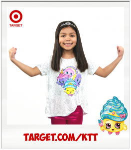 Kimi Cupcake Queen Target Shopkins white t-shirt